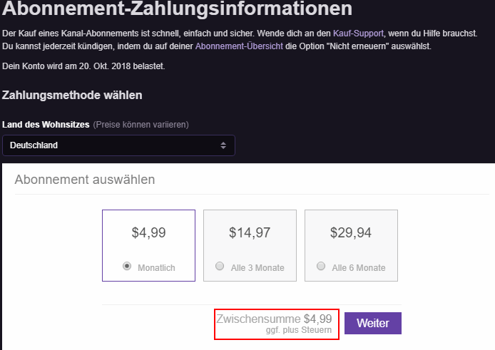 twitch Payout